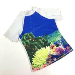 Lands' End Kids Unisex Swim Rash Guard Shirt Small